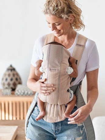 Baby Carrier Mini Pearly Pink in airy 3D Mesh - BABYBJÖRN