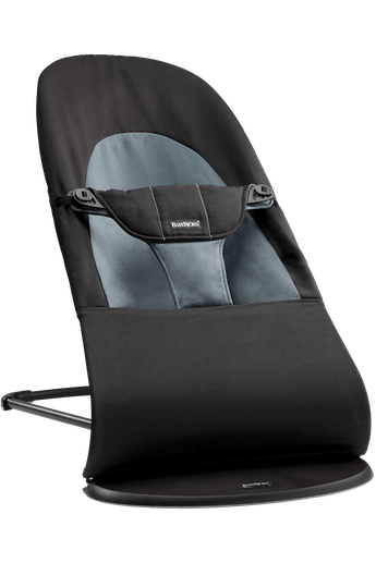 Bouncer Balance Soft in Black/Dark Grey Cotton - BABYBJÖRN