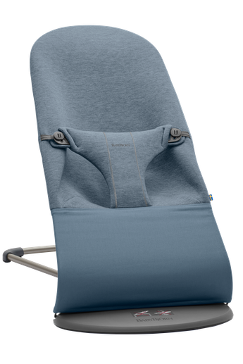 Bouncer Bliss Dove Blue in supersoft 3D Jersey - BABYBJÖRN