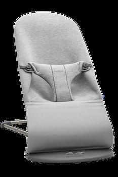 Bouncer Bliss Light Grey in supersoft 3D Jersey - BABYBJÖRN
