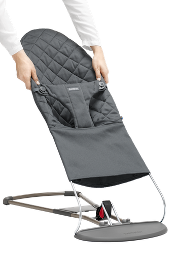 Fabric Seat for Bouncer Bliss Anthracite Grey in Cotton - BABYBJÖRN