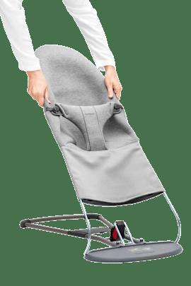 BABYBJÖRN Bouncer Bliss Light grey, 3D Jersey