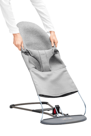 Fabric Seat for Bouncer Bliss Light Grey i supersoft 3D Jersey - BABYBJÖRN