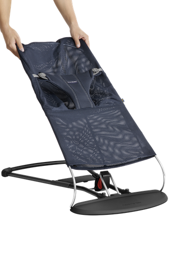 Fabric Seat for Bouncer Bliss Navy Blue in soft and airy mesh - BABYBJÖRN