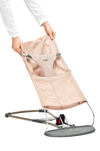 Fabric Seat for Bouncer Bliss Pearly Pink in soft and airy mesh - BABYBJÖRN
