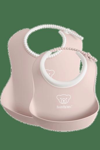 Feeding Bib Set 2-pack, Powder Pink - BABYBJÖRN