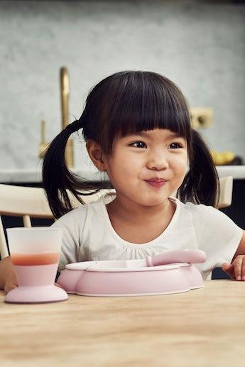 Baby Feeding Set Powder Pink in BPA-free plastic - BABYBJÖRN