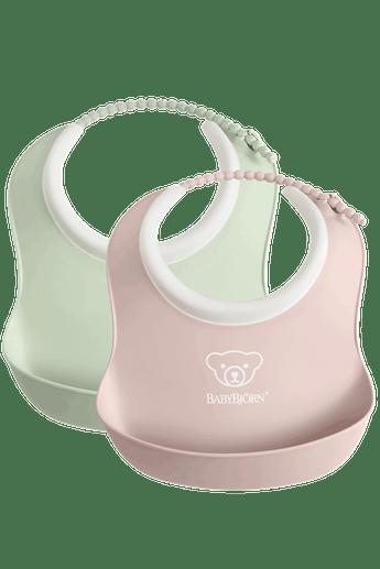 Small Bib 2-Pack, Powder Pink and Powder Green - BABYBJÖRN