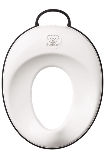 Toilet Training Seat White and Black - BABYBJÖRN