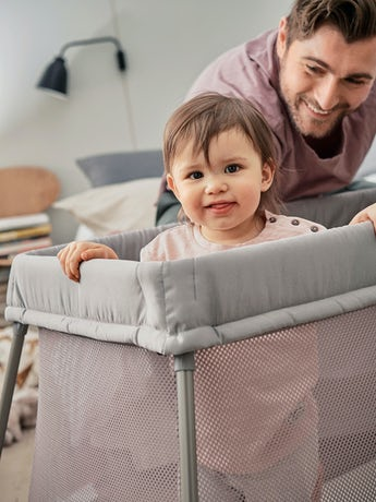 Travel Cot Easy Go Greige - BABYBJÖRN