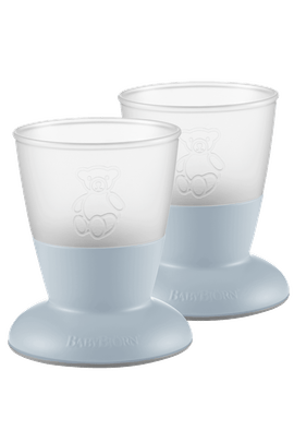 BABYBJORN Baby Cup, 2-pack, Powder Blue