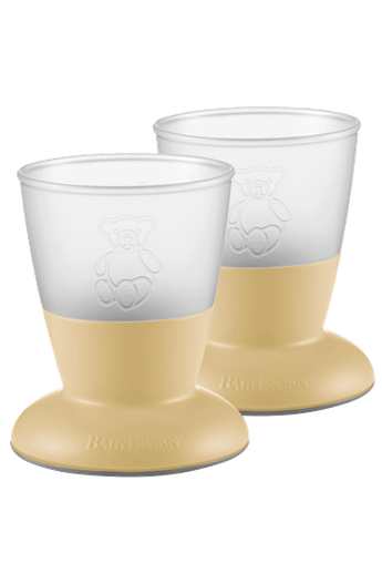 BABYBJORN Baby Cup, 2-pack, Powder Yellow