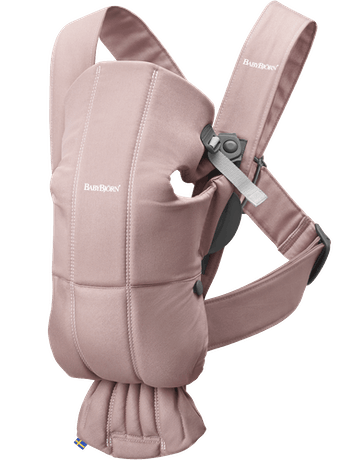 Baby Carrier MIni Dusty Pink in soft cotton - BABYBJÖRN
