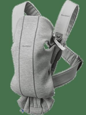 Baby Carrier Mini Light Gray in 3D Jersey - BABYBJÖRN