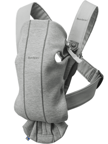 Baby Carrier Mini in Light Gray 3D Jersey - BABYBJÖRN