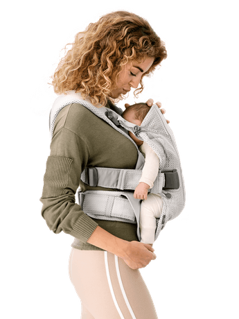 Baby Carrier One Air Silver in 3D Mesh - BABYBJÖRN