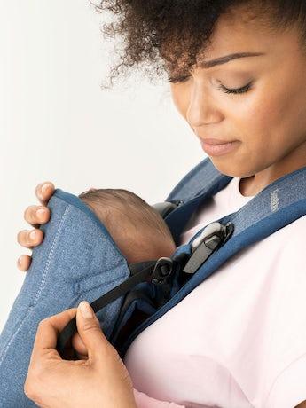 Baby Carrier One Classic Denim Midnight Blue Cotton - BABYBJÖRN