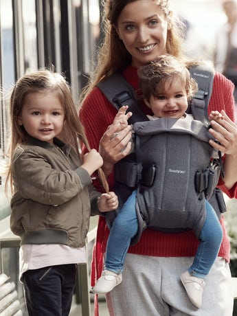 Baby Carrier One Classic Denim Gray Dark Gray Cotton - BABYBJÖRN