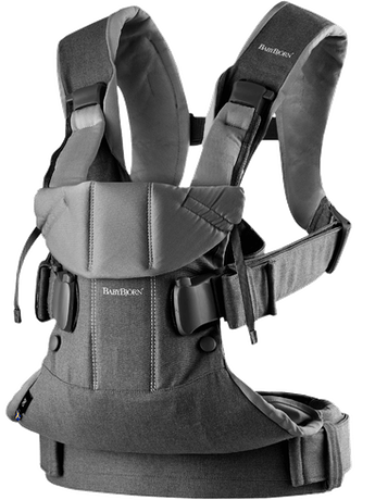 Baby Carrier One Classic Denim Gray Dark Gray Cotton - BABYBJÖRN