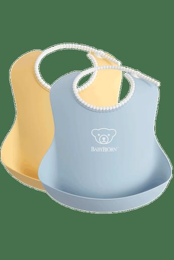babybjorn-bavoir-avec-poche-lot-de-2-jaune-pastel-bleu-pastel-001