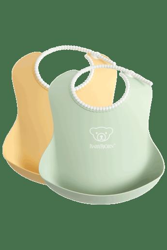 babybjorn-bavoir-avec-poche-lot-de-2-jaune-pastel-vert-pastel-001