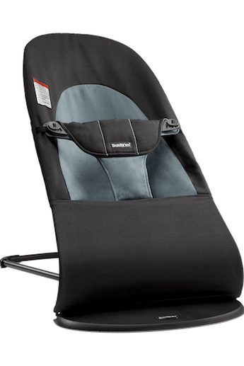Bouncer Balance Soft Black/Dark Gray Cotton - BABYBJÖRN