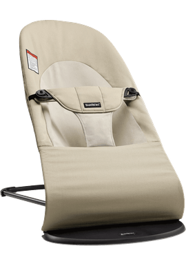 Bouncer Balance Soft Khaki Beige Cotton - BABYBJÖRN