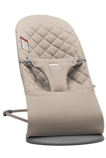 Bouncer Bliss Sand Gray in soft quilted Cotton- BABYBJÖRN