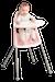 Chaise Haute Rose pastel/Gris - BABYBJORN