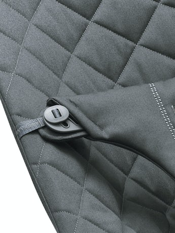 Fabric Seat for Bouncer Bliss Anthracite in soft quilted Cotton - BABYBJÖRN