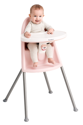High Chair Powder Pink/Gray - BABYBJORN