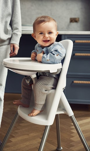 High Chair White/Gray - BABYBJORN