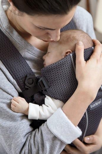 Porte-bébé Mini Anthracite en Mesh 3D - BABYBJÖRN