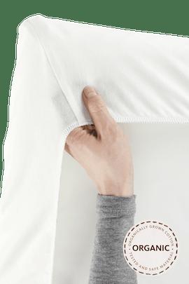 Sheet for Play Yard in White Organic Cotton - BABYBJÖRN
