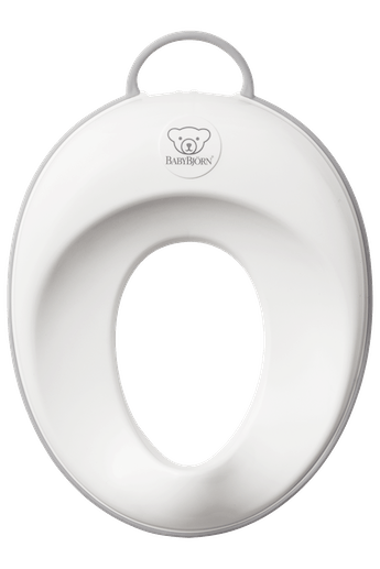 BABYBJÖRN Toilet Training Seat, White/Gray