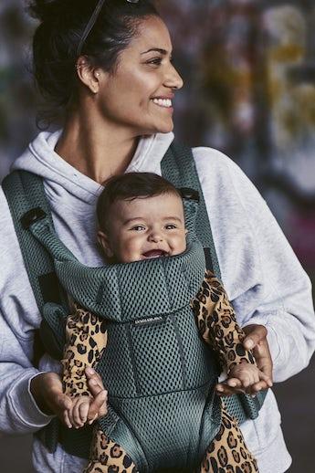 Porte-bébé Free Vert Sauge 3D Mesh - BABYBJÖRN