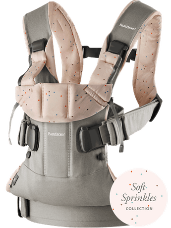 Baby Carrier One Classic Grey/Pink sprinkles - BABYBJÖRN