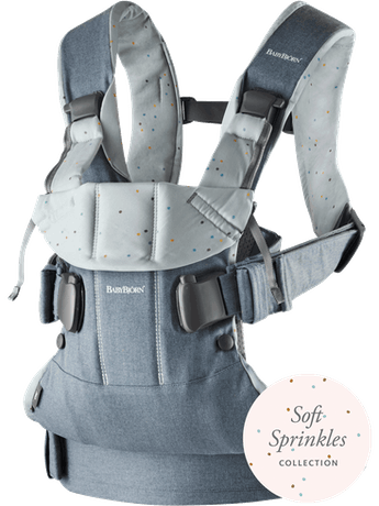 Baby Carrier One Light Denim Blue Sprinkles Cotton Mix - BABYBJÖRN