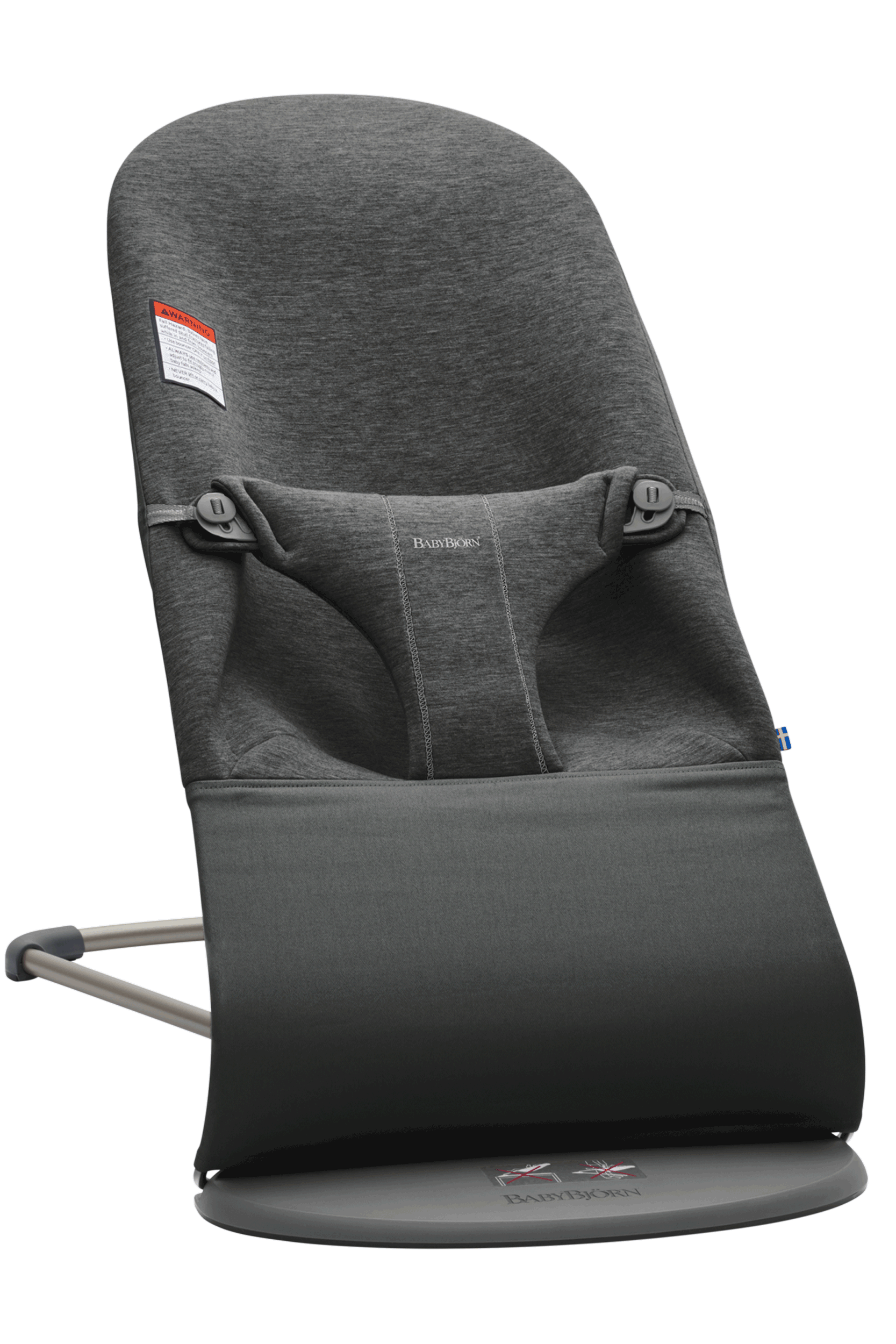 Charcoal Grey 3D-Jersey BABYBJORN Fabric Seat for Bouncer Bliss