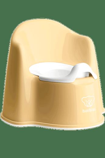 Pot Fauteuil Jaune Pastel Blanc - BABYBJÖRN