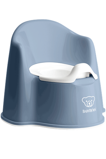 Potty Chair Deep Blue White - BABYBJÖRN