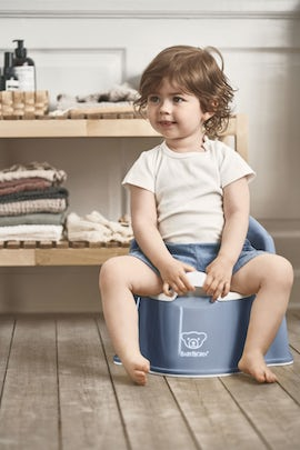 Potty Chair Deep blue/White - BABYBJÖRN