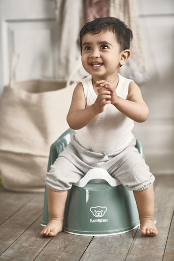 Potty Chair Deep green/White - BABYBJÖRN