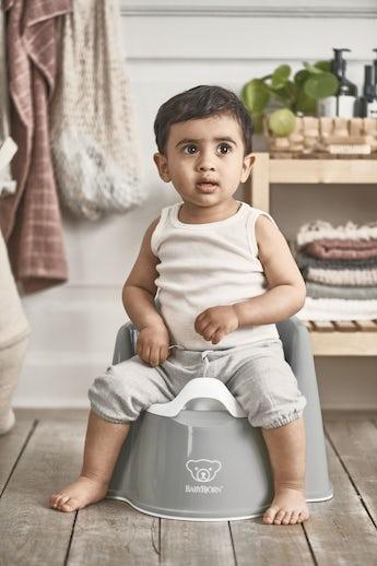 Potty Chair Gray White - BABYBJÖRN