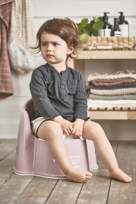 Potty Chair in Powder pink and White - BABYBJÖRN