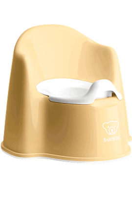 POTTY CHAIR Powder yellow white