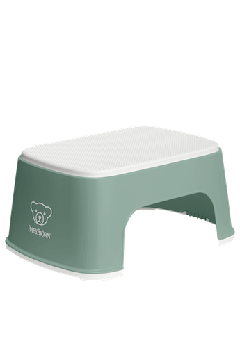 Step Stool Powder Deep Green/White - BABYBJÖRN