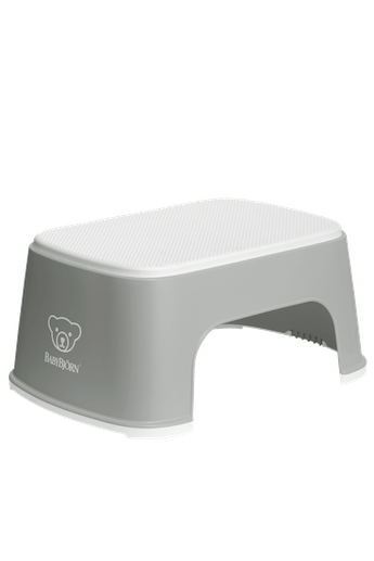 Step Stool Gray White in BPA-Free plastic - BABYBJÖRN