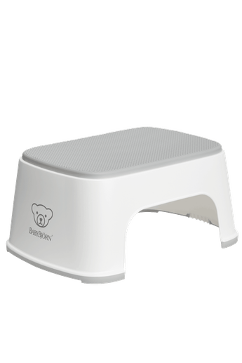 Step Stool Powder White/Gray - BABYBJÖRN