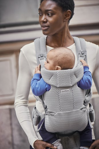 Baby Carrier Free Gray 3D Mesh - BABYBJÖRN